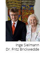 Inge Sielmann  Dr. Fritz Brickwedde